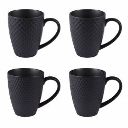 Coffret 4 mugs black mat 35 cl