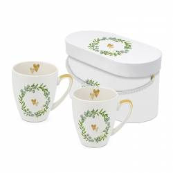set 2 mugs Two Hearts 350ml